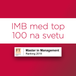 For the first time, the International Master in Business and Organisation (IMB) programme is included in the prestigious Financial Times Master in Management ranking among the best master's programmes in the world. Read more >>>