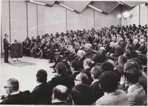 Ljubljana, 18 February 1977: At its 8th regular meeting on 11 January 1977, the Faculty Council of the Faculty of Economics in Ljubljana adopted a statutory resolution on the renaming of the Faculty of Economics in Ljubljana to the Boris Kidrič Faculty of Economics. This was also adopted by the Executive Council on 10 February 1977.