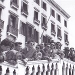 Trip of the students of the Faculty of Economics, University of Ljubljana, in 1956 – on the way to Milan.