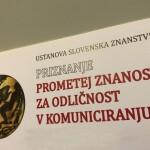 Fakulteta zaradi celovitega, sistematičnega in premišljenega pristopa h komuniciranju družboslovja in ekonomije prejme nagrado Prometej znanosti za odličnost v komuniciranju s strani Slovenske znanstvene fundacije.