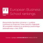 Ekonomska fakulteta se kot edina poslovno-ekonomska šola iz Slovenije prvič uvrsti med 95 najboljših poslovnih šol v Evropi po lestvici Financial Times. Preberi več >>>
